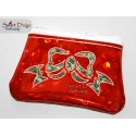ITH EVENING CLUTCH BOW Reverse Applique Bag for Cork/Vinyl