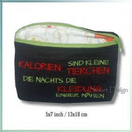 Kalorien ITH Zipper Bag Fully Lined