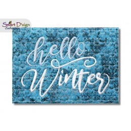 HELLO WINTER (ENG) ITH Quilt Blocks 2 Motifs Machine Embroidery Design