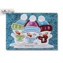 HALLO WINTER (DEU) ITH Quilt Blocks 2 Motifs Machine Embroidery Design