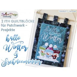 HALLO WINTER (DEU) ITH Quilt Blocks 2 Motifs Machine Embroidery Design