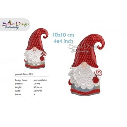 GNOME GIRL Tomte Nisse Machine Embroidery Design