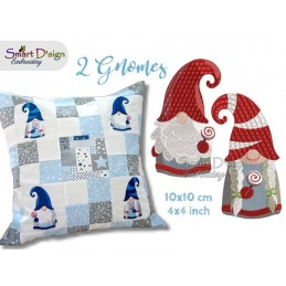 GNOME GIRL Tomte Nisse Machine Embroidery Design