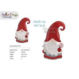 GNOMES 5x7 inch Tomte Nisse Machine Embroidery Design