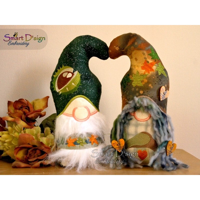 ITH Free-Standing LOVE GNOMES AUTUMN Machine Embroidery Design