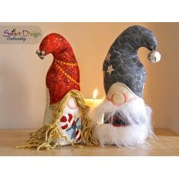 ITH Free-Standing CHRISTMAS LOVE GNOMES Machine Embroidery Design
