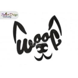 WOOF Hundegesicht Stickdatei