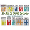 JELLY BEAN HOUSES Machine Embroidery Design