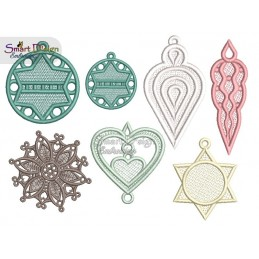 FSL 6 x Christmas Ornaments 4x4 inch