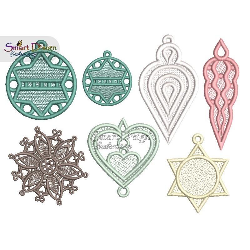 FSL 6 x Christmas Ornaments 4x4 inch