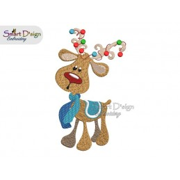 RUDOLPH 01 5x7 inch Machine Embroidery Design