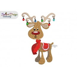 RUDOLPH 02 5x7 inch Machine Embroidery Design