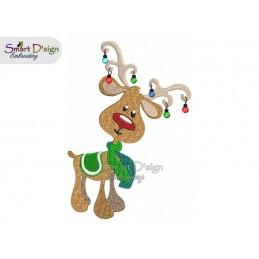 RUDOLF 03 Weihnachten 13x18 cm Stickdatei