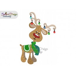RUDOLPH 03 5x7 inch Machine Embroidery Design