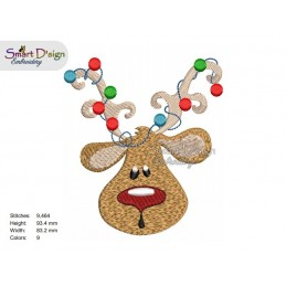 RUDOLPH 04 4x4 inch Machine Embroidery Design