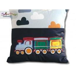 APPLIQUE TRAIN 4.75x4.75 inch Machine Embroidery Design
