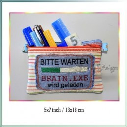 Brain.exe ITH Zipper Bag Fully Lined