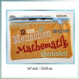 Mathematiker ITH Zipper Bag Fully Lined