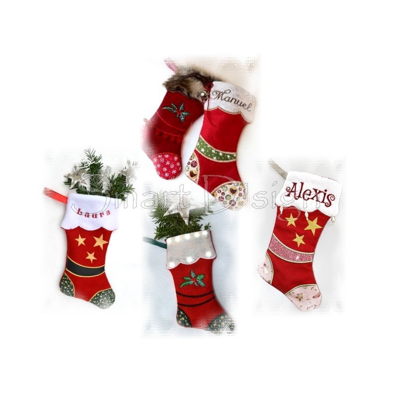 9 Santa Stockings ITH 8x11inch