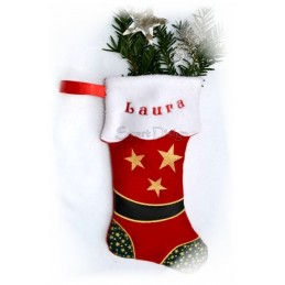 9 Santa Stockings ITH 6x10 inch