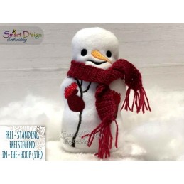 ITH Free-Standing SNOWMAN Machine Embroidery Design