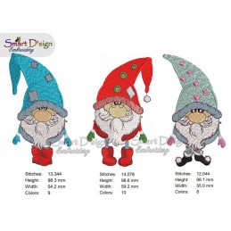 Set 3 Gnome / Wichtel Stickdatei