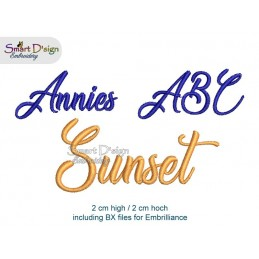 SUNSET Annies ABC All Letters, Signs & Numbers max. 2 cm high