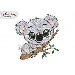 CUTE KOALA 5.2 inch Machine Embroidery Design