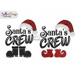 SANTAS CREW 5x7 inch Machine Embroidery Design