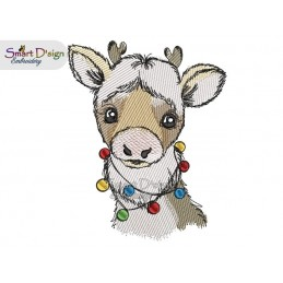 REINDEER RUDOLPH Machine Embroidery Design