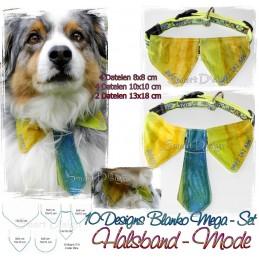 10 Blank Dog Collar Bibs 4x4 & 5x7 inch ITH