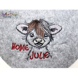 LITTLE CALF Machine Embroidery Design