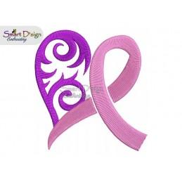 Cancer Awareness Ribbon 4x4 inch