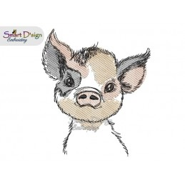 LITTLE PIG Machine Embroidery Design
