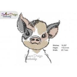 LITTLE PIG Machine Embroidery Design