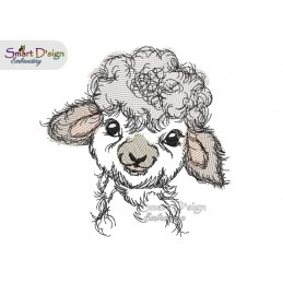 LITTLE LAMB Machine Embroidery Design
