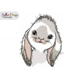 Little Rabbit Doodle Design Machine Embroidery