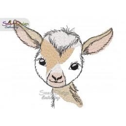 LITTLE GOAT Machine Embroidery Design