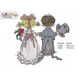 Wedding Day 18x18 cm, 7x7 inch
