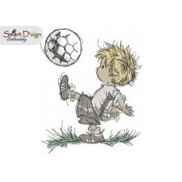 Kleiner Fussballfan