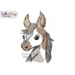 LITTLE FOAL Machine Embroidery Design