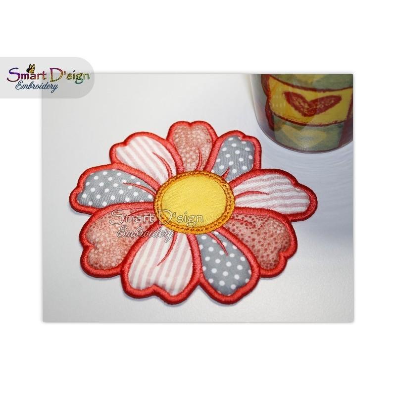 ITH FLOWER COASTER 13 cm Machine Embroidery Design