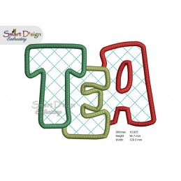 ITH TEA COSTER 13 cm Machine Embroidery Design