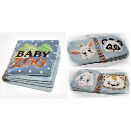 Ebook mit 10 Baby Zoo Applikationen Fransen-Mähne 10x10 cm