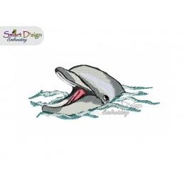 Delfin 13x18 cm Stickdatei