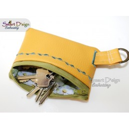 ITH Key Zippered Bag - Wallet Coin Purse 5x7 inch Machine Embroidery Design