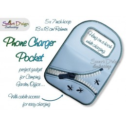 ITH PHONE CHARGER POCKET 5x7 inch Machine Embroidery Design
