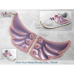 ITH Schuhbandschmuck Flügel 10x10 cm Stickdatei