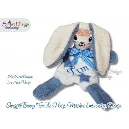 ITH 2x Snuggle Bunny Stuffed Soft Toy Stuffie 5x7 inch Machine Embroidery Design