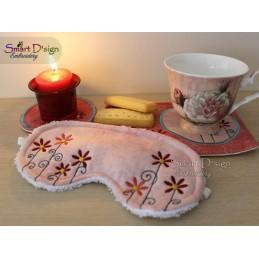 ITH Schlafmaske mit Blumen 13x18 cm Stickdatei